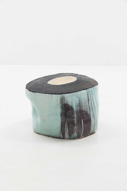 Lee Hun Chung Bada assemblage 140929-05-01 Glazed Ceramic in traditional grayish-blue-powdered celadon 18.5h x 28.3w x 26.4d in (46.99h x 71.88w x 67.06d cm)