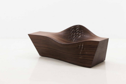 Bae Se Hwa Steam_14 Walnut 30.3h x 71.3w x 31.5d in (76.96h x 181.1w x 80.01d cm)