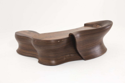 Bae Se Hwa    Steam 24, 2014    Walnut   (Desk part) 290W x 120D x 100H cm/ 114.2W x 47.2D x 39.4H inch  (Drawer part) 182W x 70D x 64H cm/ 71.7W x 27.6D x 25.2H inch