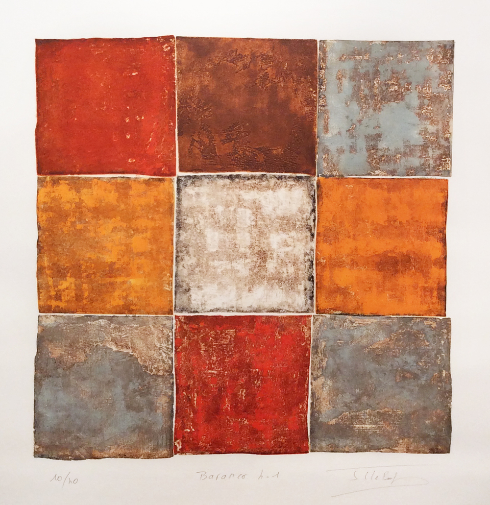 Baranco 4-1, 2014, Color etching, 31 x 31 inches