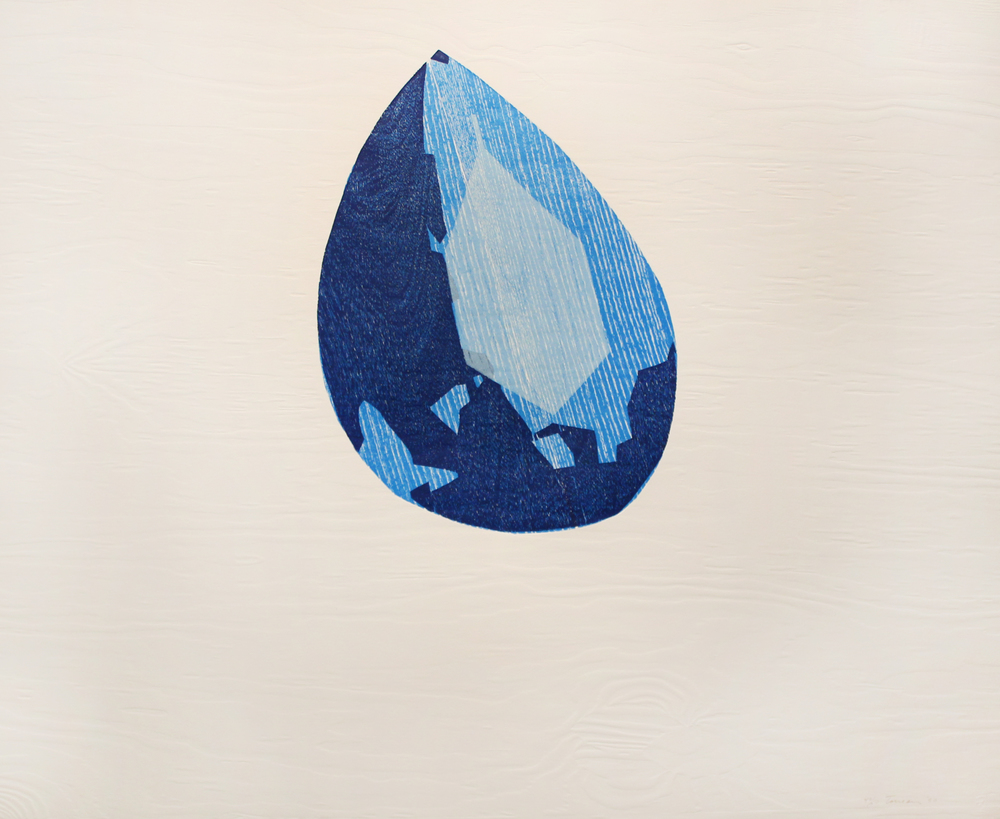 Oxygems, 1990, Color woodcut with embossing, 30 x 36 inches