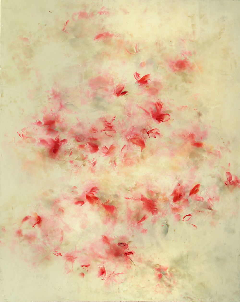 Salome, 2014, encaustic on canvas on panel, 60 x 48 inches