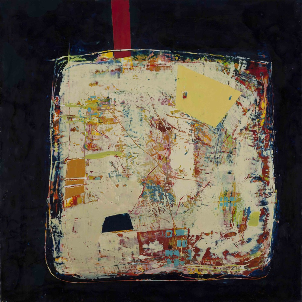 During the Time, 2015, encaustic on panel, 30 x 30 inches