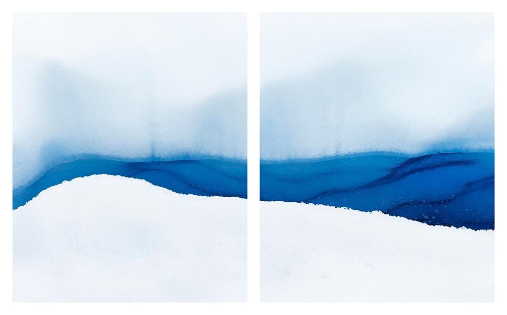 """Glacier #4, 34 x 52"""" (ed 8), 40 x 65"""" (ed 5), 50 x 81 (ed 3)"""