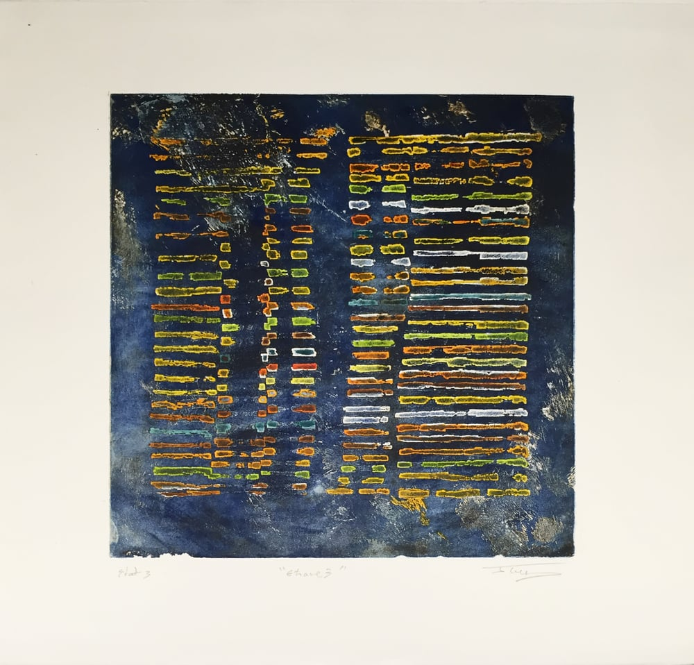 Etrave 3, 2015, color etching, ed. 1 of 50, 23 x 23 inches