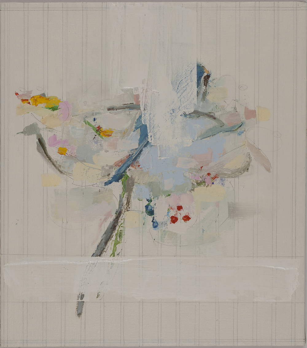 Bouquet, 2015, oil and pencil on linen, 18 x 16 inches