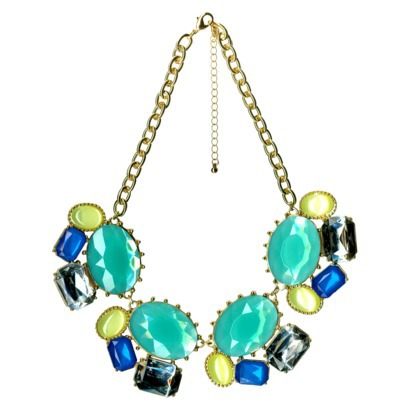 Statement Necklace - Silver/Blue-$16.99