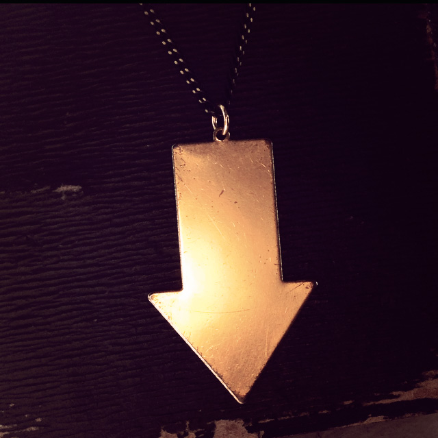 There is only one Brass Arrow pendant Available!