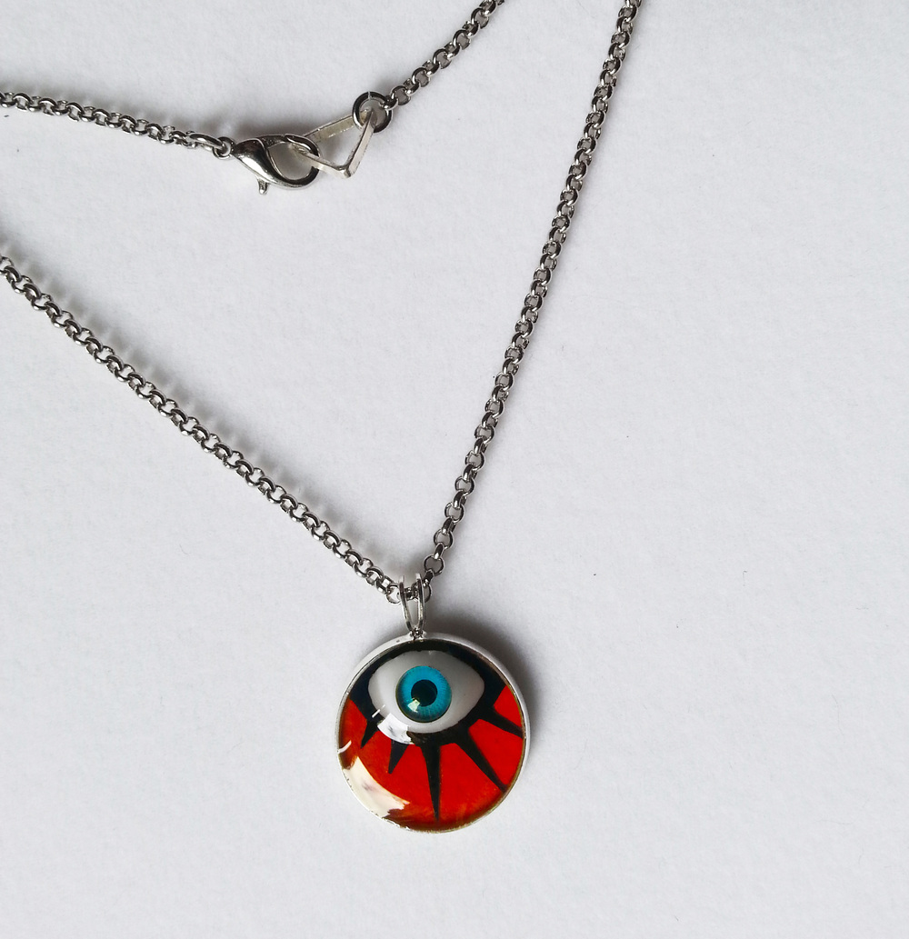 A Clockwork Orange Eye Pendant