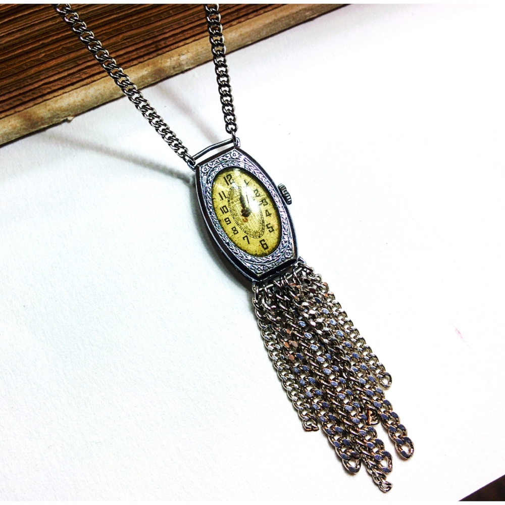 art deco watch case pendant