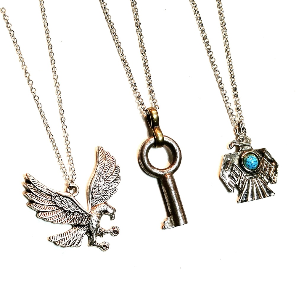 Eagles and keys, new pendants available at the Leslieville Arts Market <3