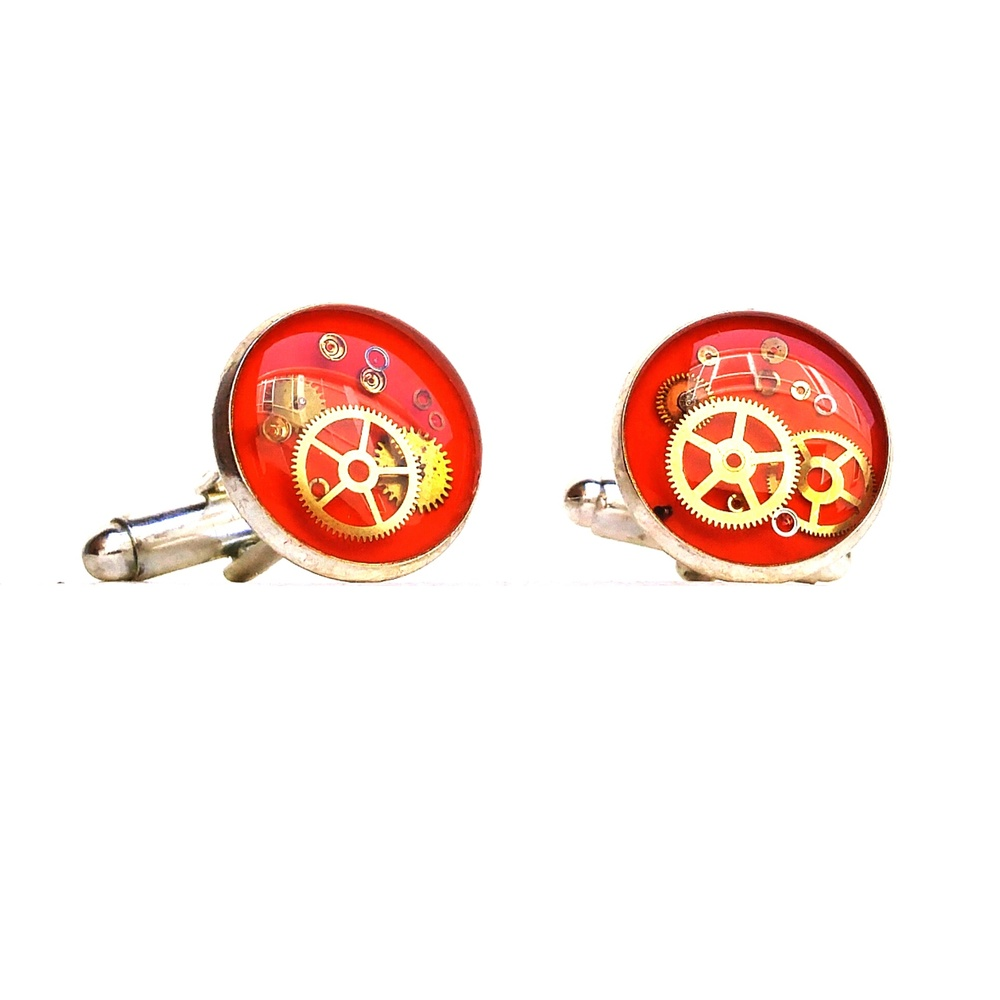 Colourful cufflinks! Summer wedding? Perfect, Always available in custom colours on request.