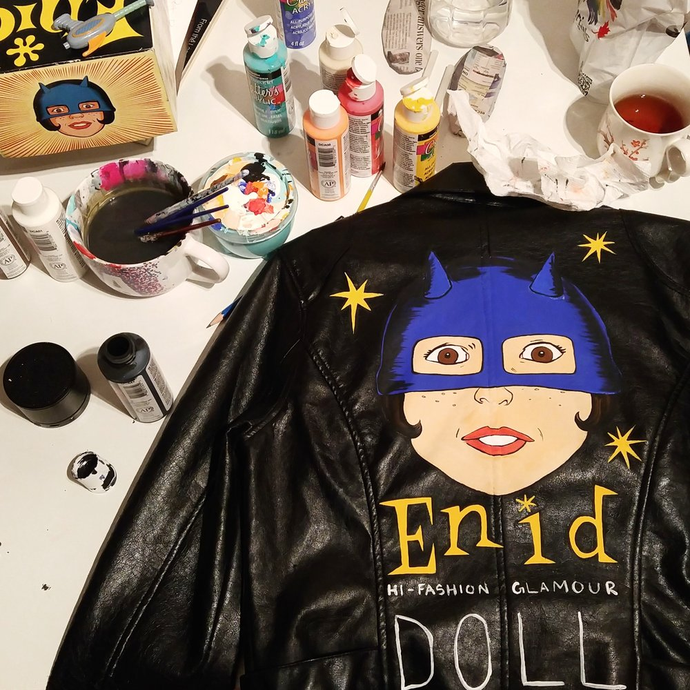 Jacket painting in progress