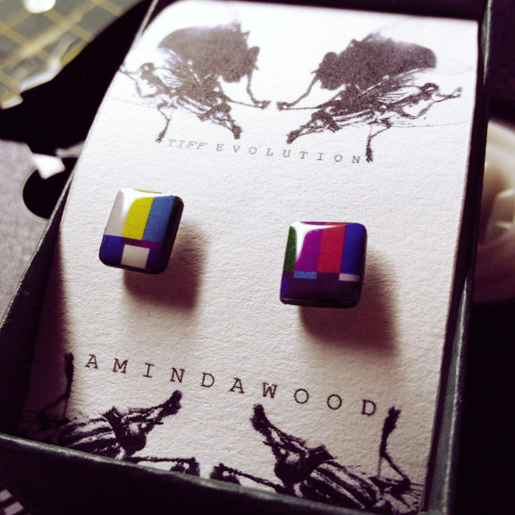 Colour Bar Stud Earrings