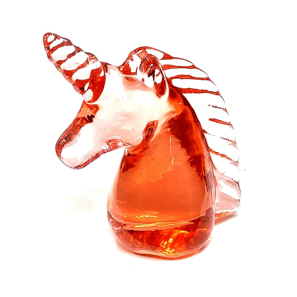 Vintage glass unicorn