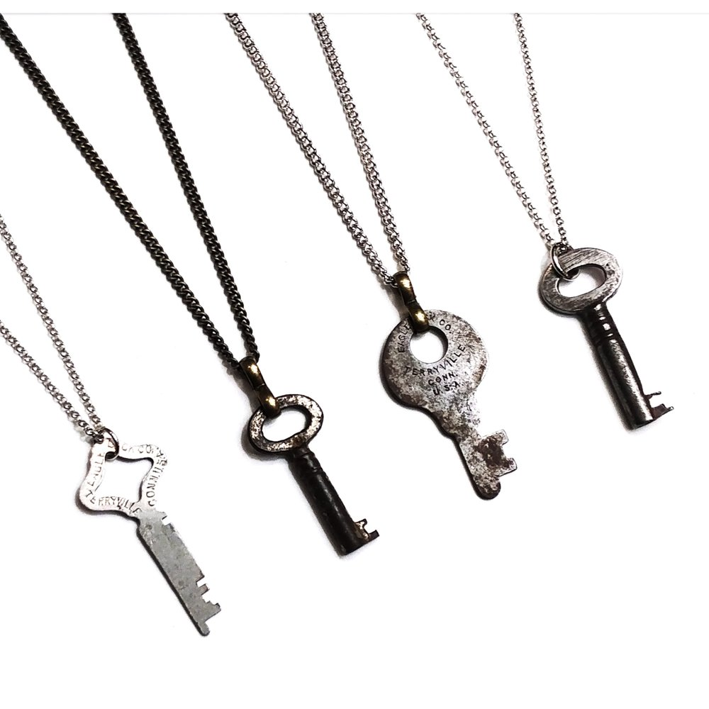 antique key necklaces
