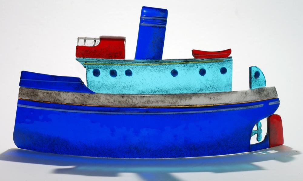 Blue steamer