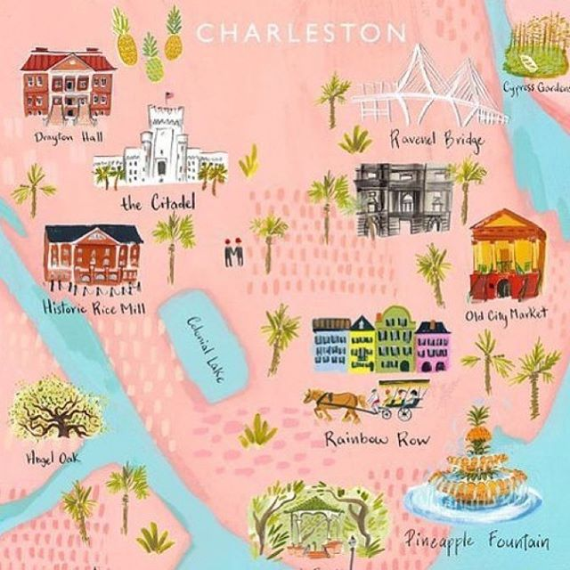 Heading to Charleston tomorrow and would love any interior decor/cute shops to visit! I also don't know who this artist is so if anyone knows please tag! #charleston #longweekend #relax