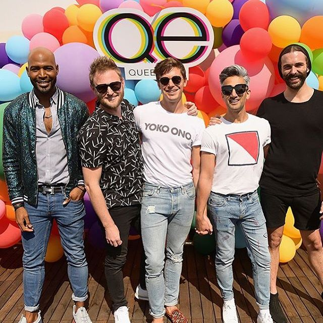 Spent the morning having me time. Thank you @queereye for my morning entertainment. So amazing! Now off to finish the mural downtown #womenbosses