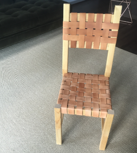 IKEA Ivan chair - Hacked and remade with woven leather