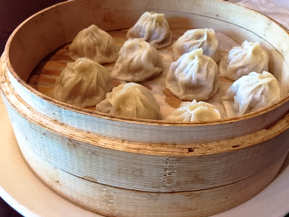 Pretty pork dumplings from Taste of Sichuan
