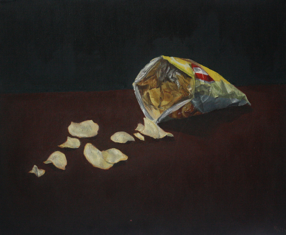 Lays, 2011 | oil paint, 17 x 15 in