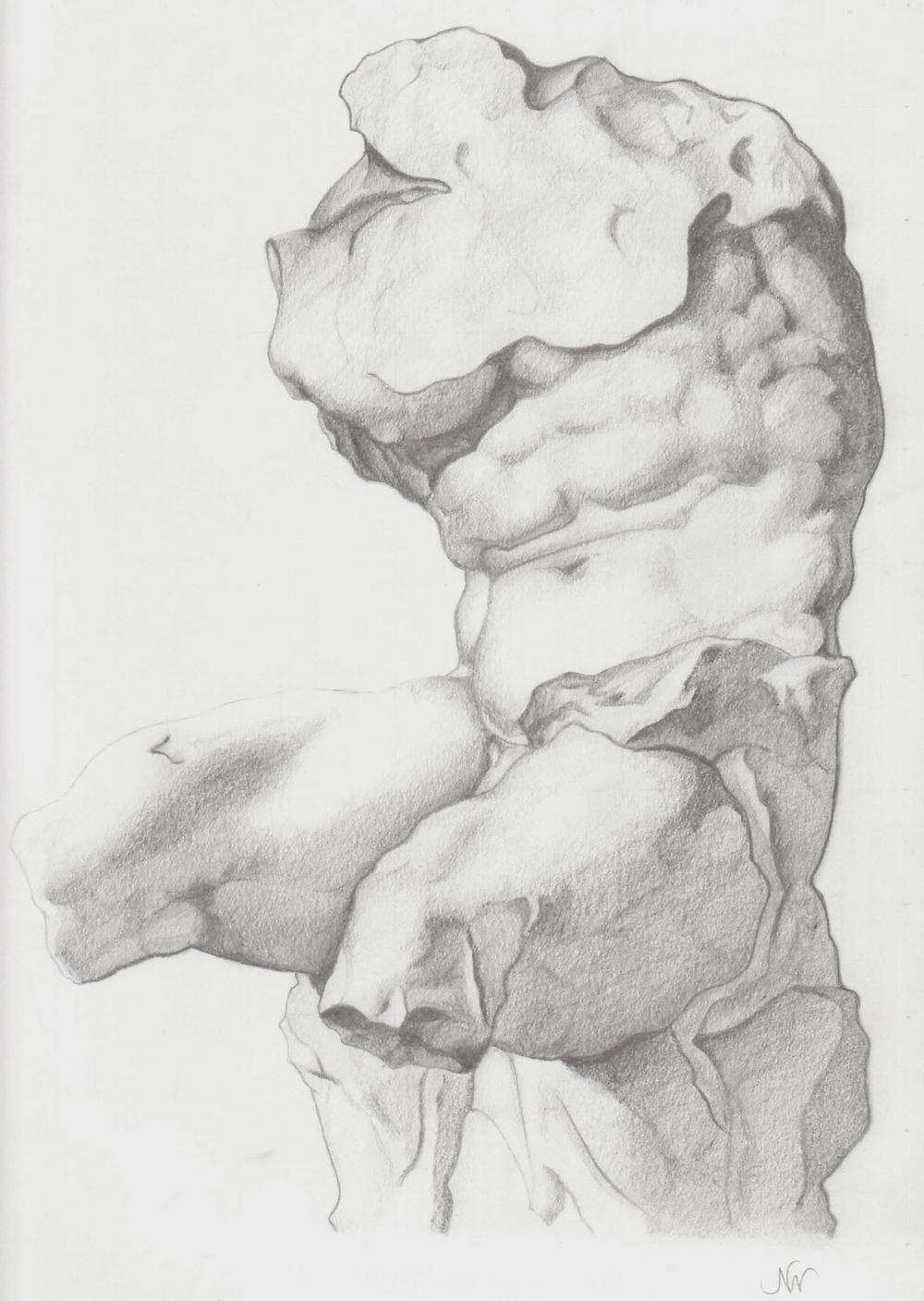 Sculpture, 2010 | graphite, 9 x 12 in