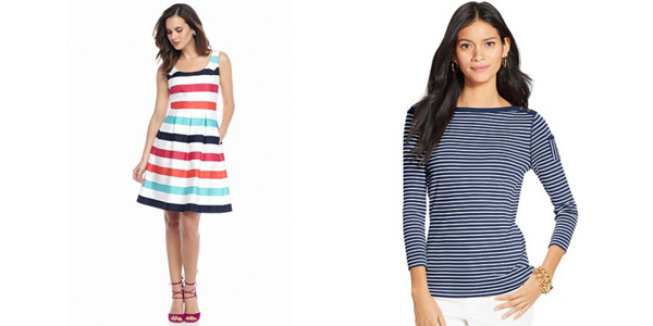 Nine West Stripe Fit and Flare Dress and Lauren Jeans Co. Striped Shirt