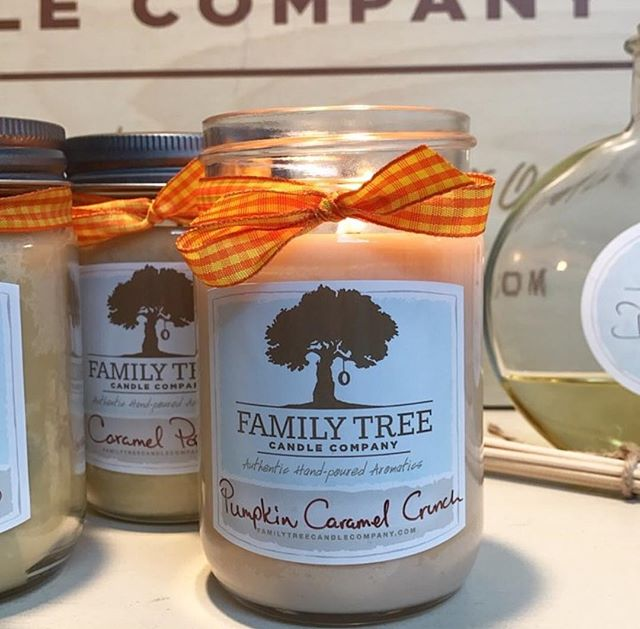 Pumpkin Caramel Spice is here, y'all! Come pick up your soy candle, hand poured in house at AlmaDiem by @familytreecandles company! #knoxrocks #almadiem #candles #shoplocal #artists