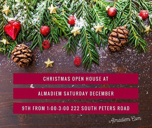 ❤️🎄Come visit us today at AlmaDiem for our Christmas Open House and the GRAND OPENING of BASK-an infrared sauna! We will have tons of gifts and goodies to share. Good tidings, friends! #almadiem #knoxrocks #shopsmall #localbusiness #christmas