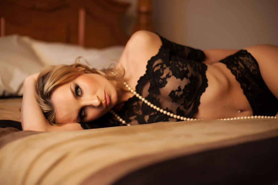 Bedroom image boudoir pose