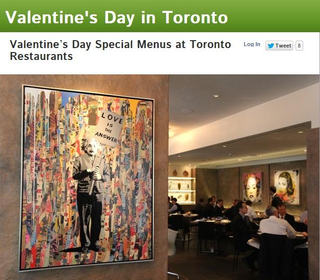 Valentine's Day Special Menus at Toronto Restaurants