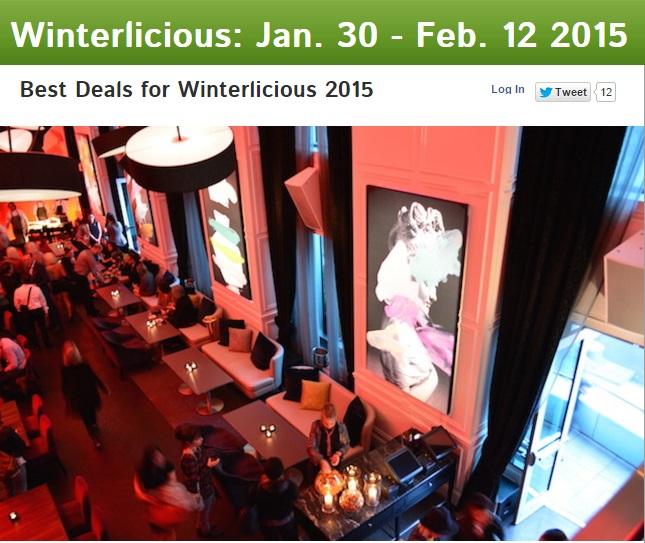 Best Deals for Winterlicious 2015