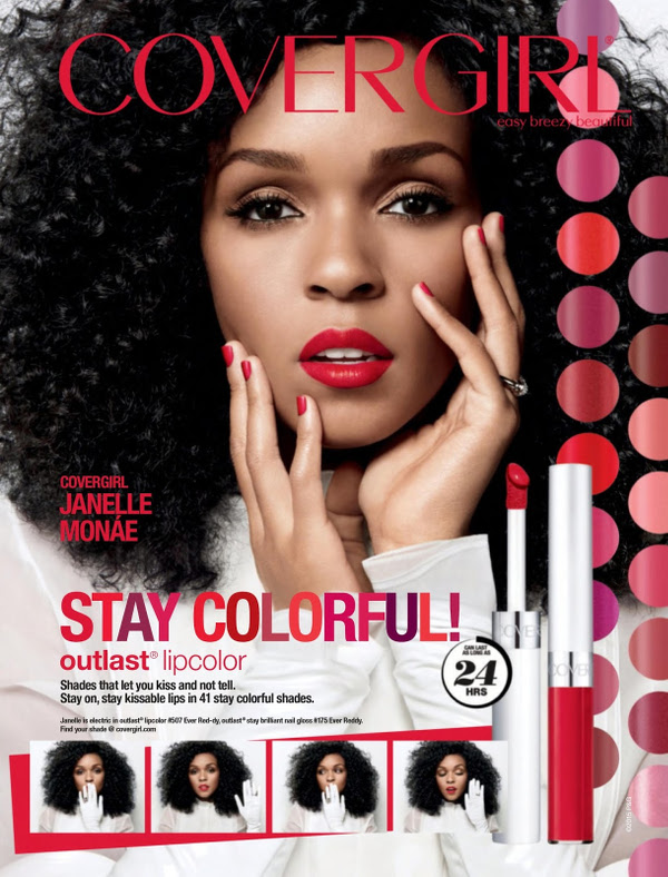 Jannelle Monae for Cover Girl