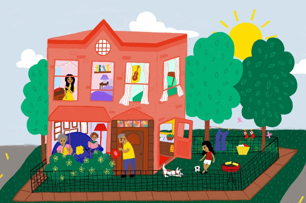 Pilsen Housing Collaborative (piHco)  Editorial illustration for a piece about piHco written by Bridget Newsham