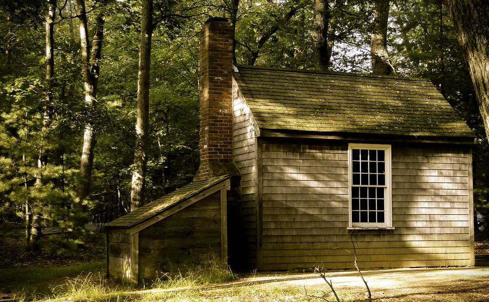 Thoreau's cabin on Walden Pond, no less valid a retreat from society than that of the Amish.