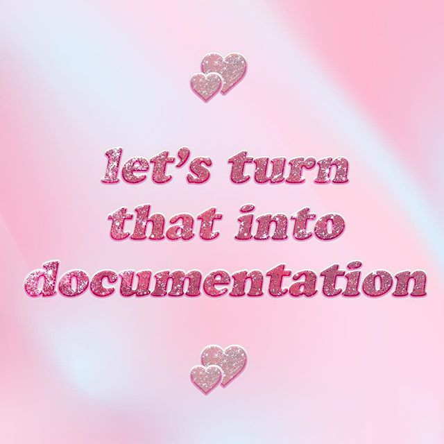 a cute way 2 remind ppl they need to document things bc u can't automatically read their brain
