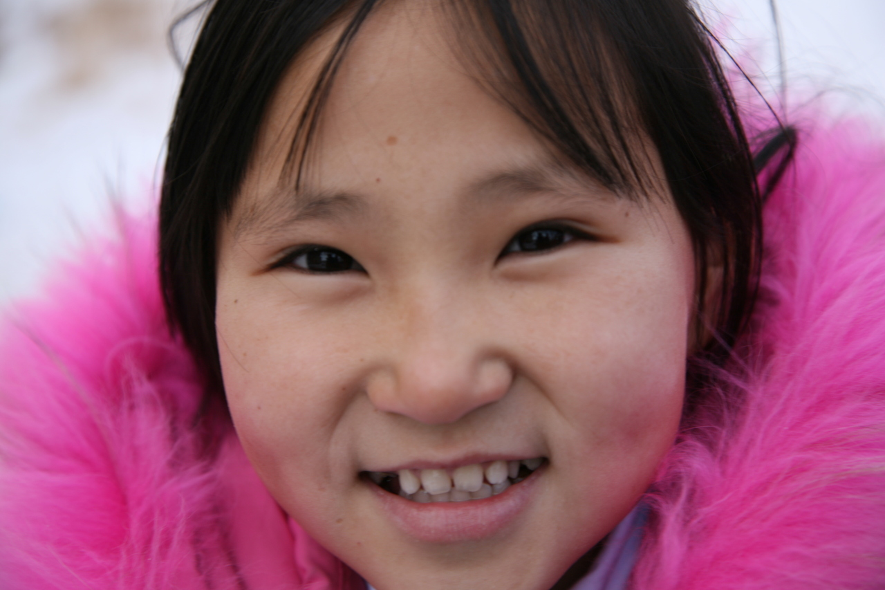 typical adorable mongolian girl.