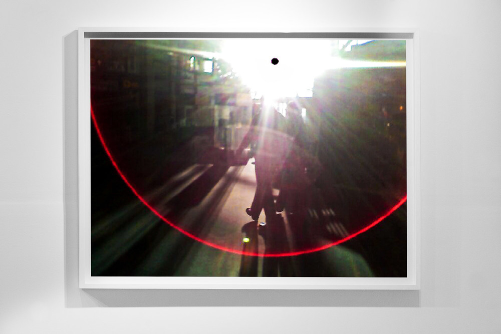 'Black Sun 0009,' 48 x 64 inch, c-prints on diasec in wood frame, Black Sun Project, at Bas Fisher Invitational, 2008.