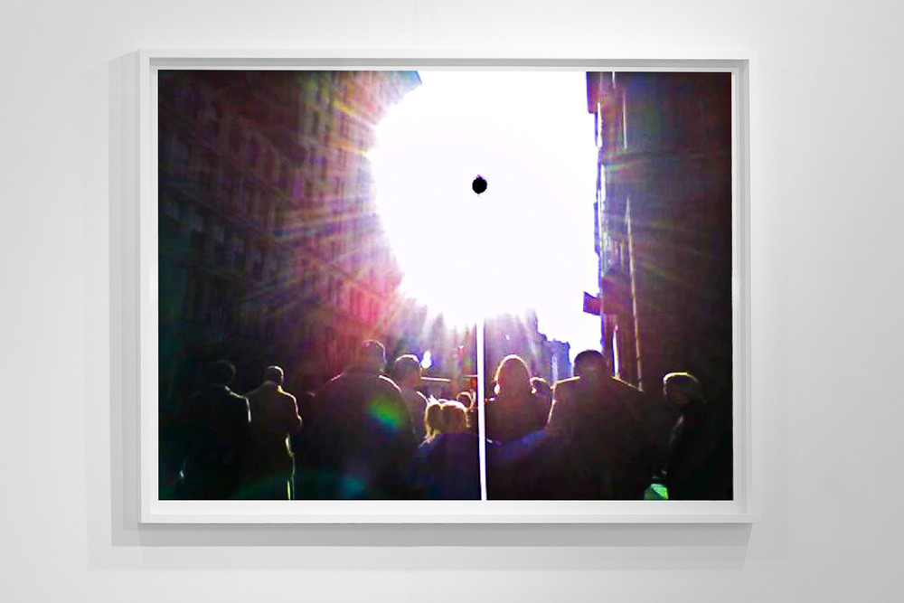 'Black Sun 0181,' 48 x 64 inch, c-prints on diasec in wood frame, Black Sun Project, at Bas Fisher Invitational, 2008.