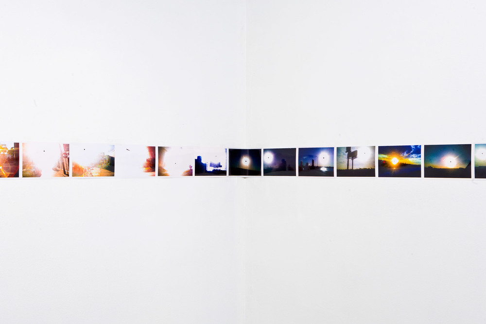 'Infinite Black Suns' (detail, corner 2), 104, 4 x 6 inch c-prints, Black Sun Project, at Bas Fisher Invitational, 2008.