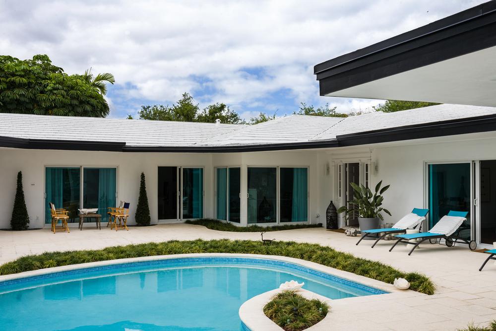 Courtyard pool, Miami Shores Home