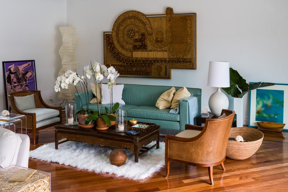 Living room, Miami Shores Home