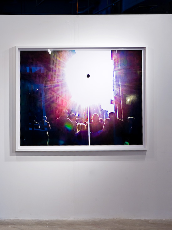 "harlan erskine, ""Black Sun 0181,""  c-print on diasec in wood frame, 48"" x 64"""