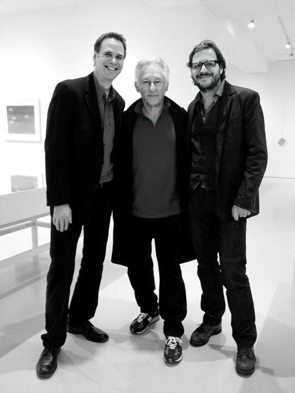 (from left) Jeff Brouws, Ed Ruscha, Hermann Zschiegner