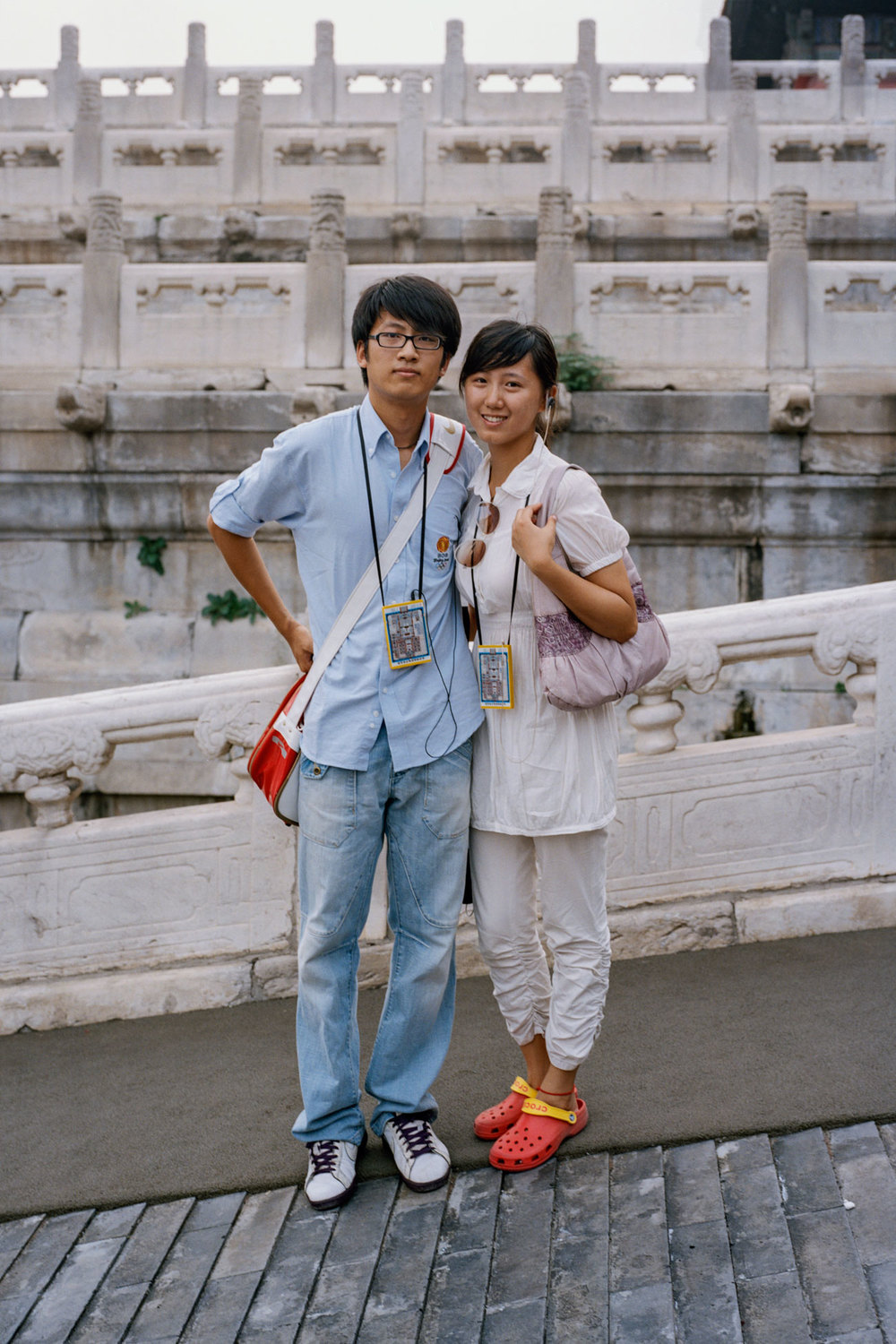 Young Chinese couple at the Forbidden City
