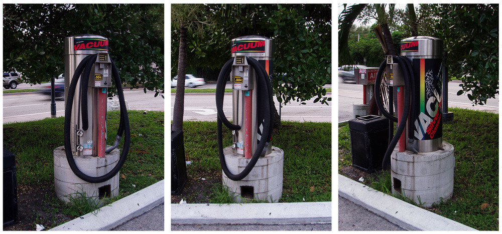 coin operated car vacuum system, ¢50, Miami, FL
