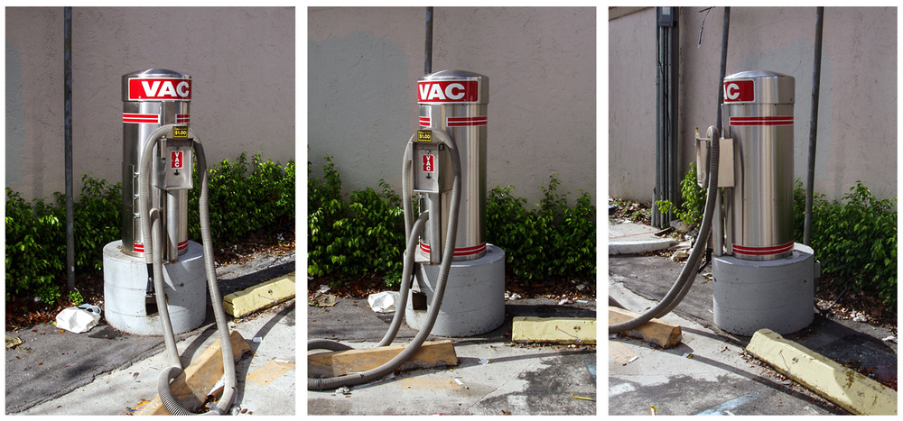 coin operated car vacuum system, $1, Miami, FL