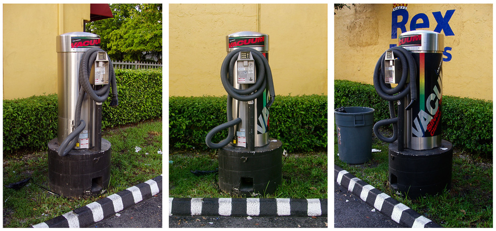 coin operated car vacuum system, ¢75, Miami, FL