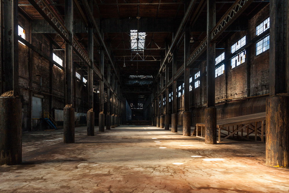 View Looking South, Raw Sugar Warehouse, Domino Sugar Factory